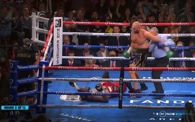 Tyson Fury vs Deontay Wilder 3 – Knockdowns and Knockout